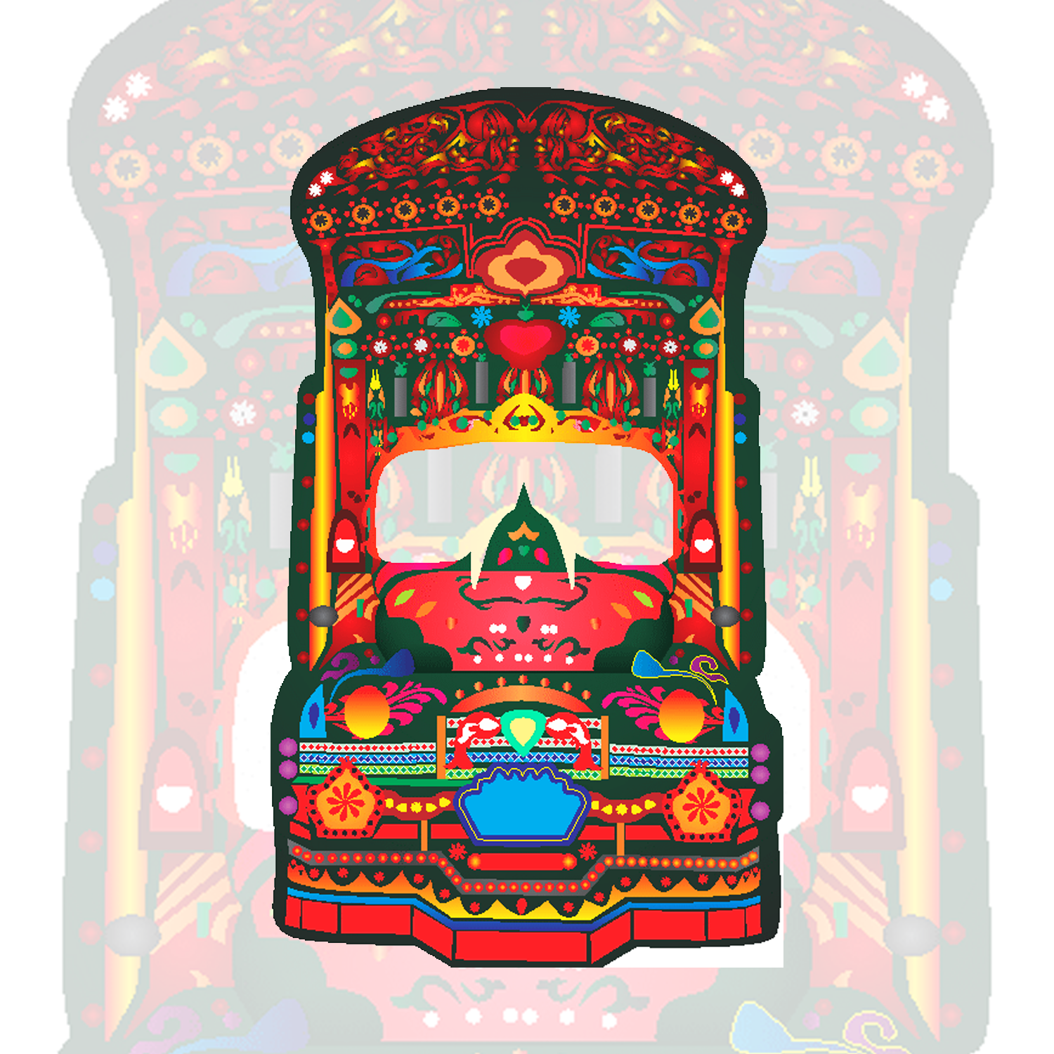Truck Art Native Decorative Illustration Afridext Quality Designs Haven Logo Design Business Cards Gift Items Business Items T Shirts Arts And Crafts Best Designers